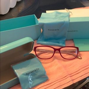 Never worn Red Tiffany & Co. glasses